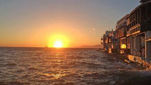 mykonos sunset explore